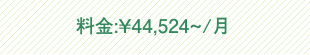 料金:¥44,524~/月